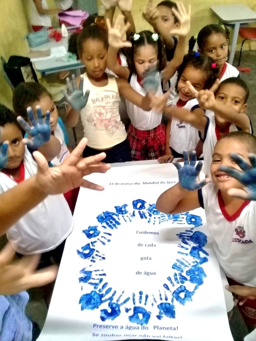 Atividades nas escolas movimentam o Dia Mundial daÁgua