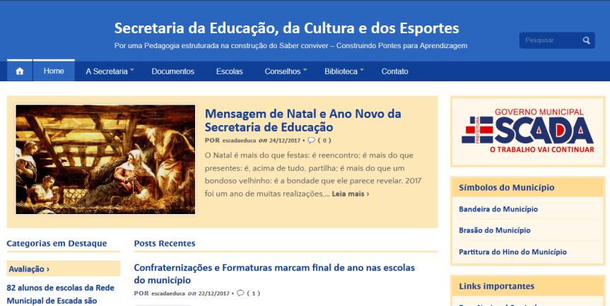 Blog da Educação agora de caranova
