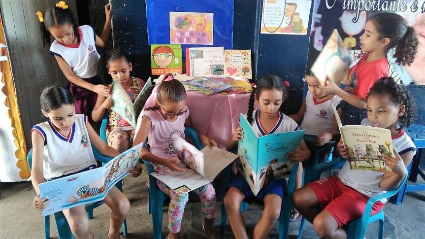 Escola de Frexeiras intensifica leitura entrealunos