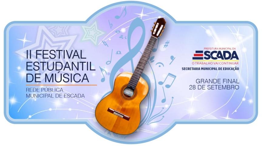 Prefeitura de Escada lança II Festival Estudantil de Música da RedeMunicipal