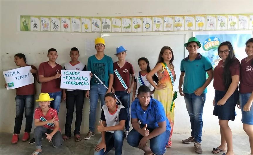 Independência do Brasil é dramatizada na Escola GerôncioFalcão