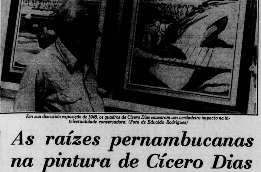 Memórias de Escada relembra entrevista de Cícero Dias em1980