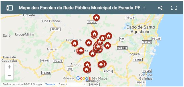 SEDUC/Escada cria Mapa das Escolas da RedeMunicipal