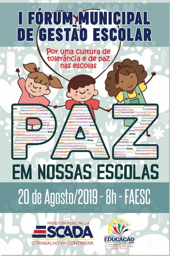 Fórum Municipal (dia 20) discutirá violência nasescolas