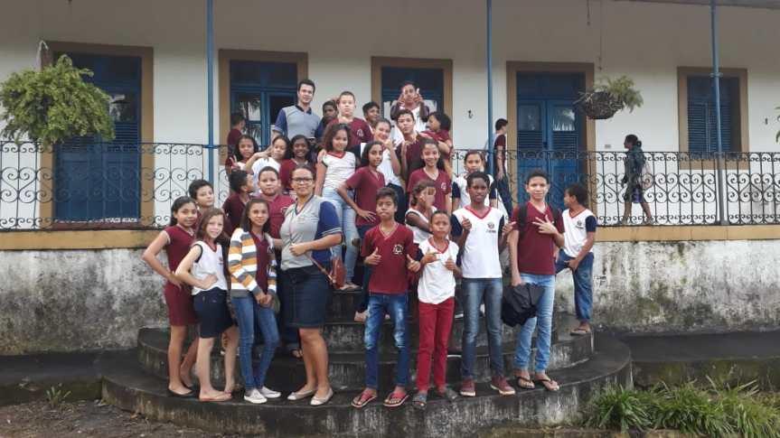 """Estudantes da Gerôncio Falcão visitam a """"Casa Grande deSapucagy"""""""