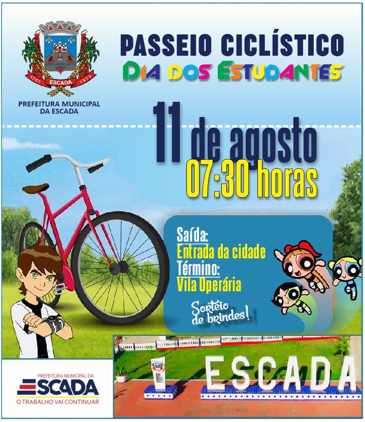 PASSEIO CICLISTICO ESCADA