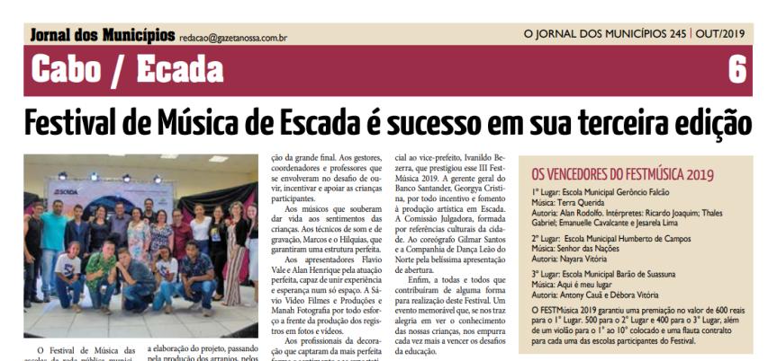 III FestMúsica 2019 é destaque em Jornal da Região