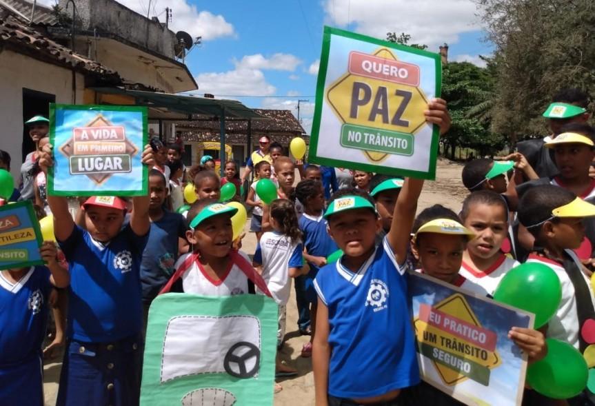 """Crianças são destaque na campanha de """"Educação para oTrânsito"""""""
