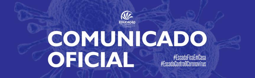 SEDUC/Escada publica ComunicadoOficial