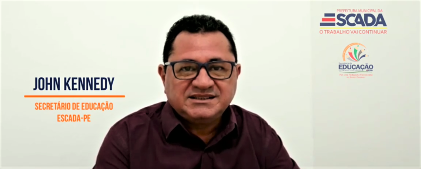 Secretário de Educação grava mensagem em homenagem àEscada