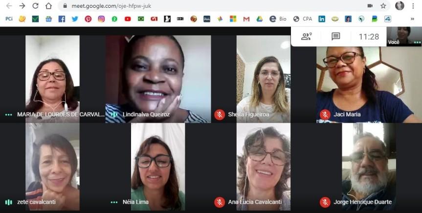 SEDUC/Escada discute os desafios da aprendizagem na formaremota